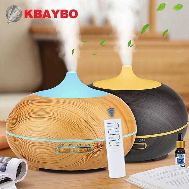 KBAYBO Nawilżacz i oczyszczacz powietrza, rozpylacz zapachów, pojemność 550 ml, USB, sterowanie pilotem, zmiana kolorów, 7 odcieni, światło LED, generator chłodnej mgiełki, urządzenie dla domu