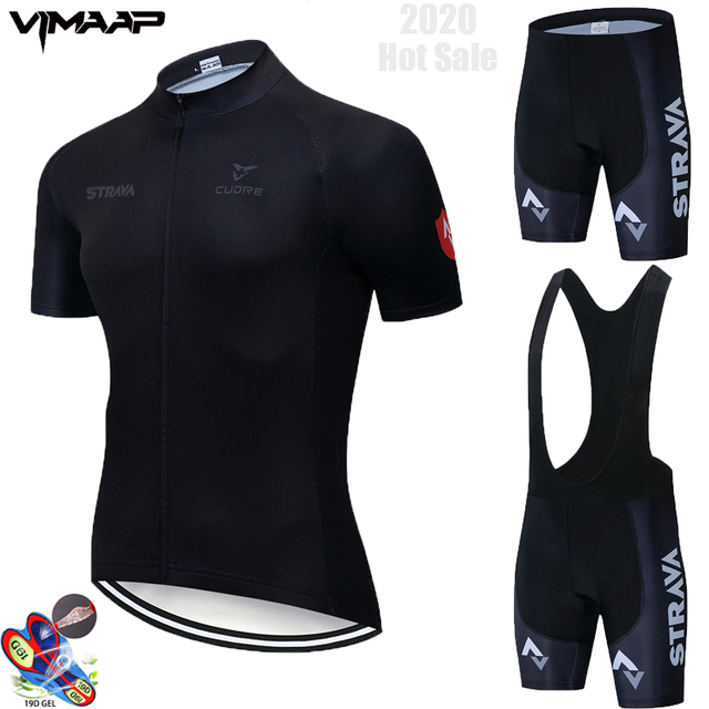 2020 Summer Strava New Cycling Jersey Short Sleeve Set Maillot Ropa Ciclismo Uniformes Quick-dry Bike Clothing MTB Cycle Clothes