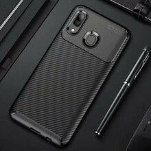 For Samsung Galaxy A20e A20 A30 A40 Case Carbon Fiber Cover Shockproof Phone Case For Samsung A 20 e 30 40 Cover Matte Bumper