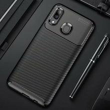Étui mat en fibre de carbone antichoc pour téléphone portable, housse pare-chocs pour Samsung Galaxy A20e A20 A30 A40,