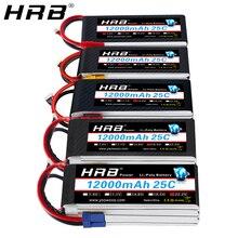 HRB Lipo Battery 12000mah 7.4V 11.1V T Deans XT60 XT90 EC5 14.8V 18.5V 22.2V 2S 3S 4S 5S 6S 1S RC FP
