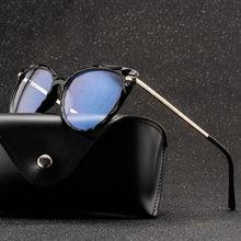 Moda óculos de olho de gato quadros de design de marca mulher tendências estilos óculos de computador óptico óculos de grau feminino armação