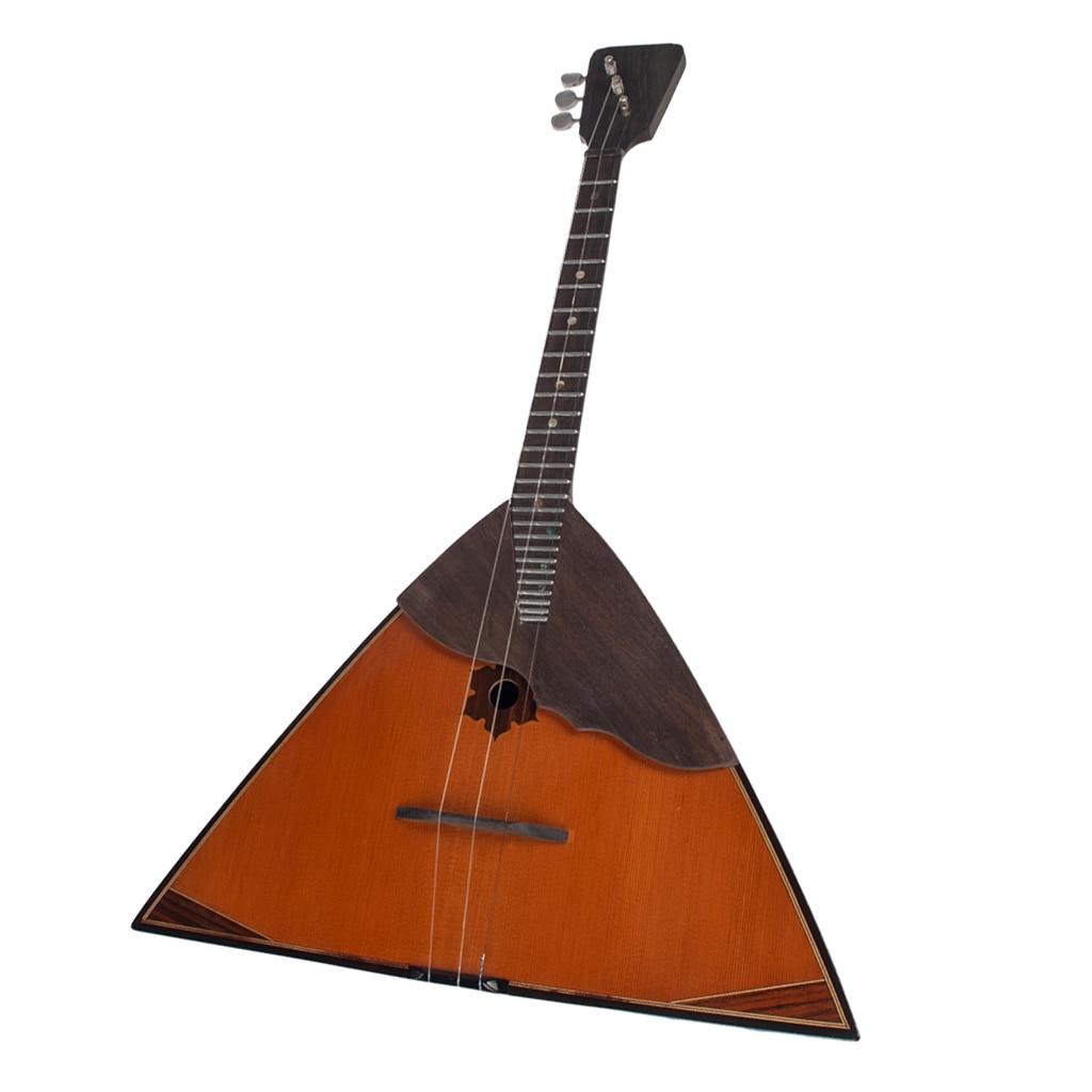 Vintage Russian Guitar Handmade Balalaika Traditional Musical Instrument,Made Of Spruce And Ebony