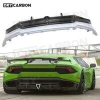 For Lamborghini LP580 LP610 Dry Carbon Rear Bumper Lip Diffuser Body Kits Case Bumper Guard S Styls Auto Car Parts FRP 1