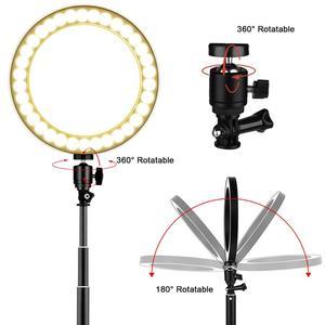 Image 5 - LEDGLE USB โคมไฟ LED 10 หรี่แสงได้สูงขาตั้งโคมไฟเติมแหวนไฟสำหรับแต่งหน้า Multi EYE ป้องกันไฟ