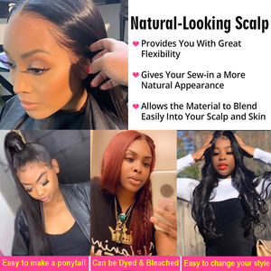 Image 5 - Newa Hair 13x6 스트레이트 레이스 프론트 인간의 머리카락 가발은 아기 머리카락으로 뽑아 냈다. Ombre Highlights 브라질 레미 레이스 프론트 가발