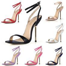 3845-i6 Zapatos 10.5 チャウセクシーなパーティーの靴の女性高鉄かかとアンクルストラップの女性のサンダルプラスサイズ