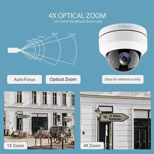Image 5 - Inesun 야외 보안 카메라 2MP 5MP PoE IP 돔 카메라 팬/틸트 4 배 광학 줌 PTZ 카메라 모션 감지 방수