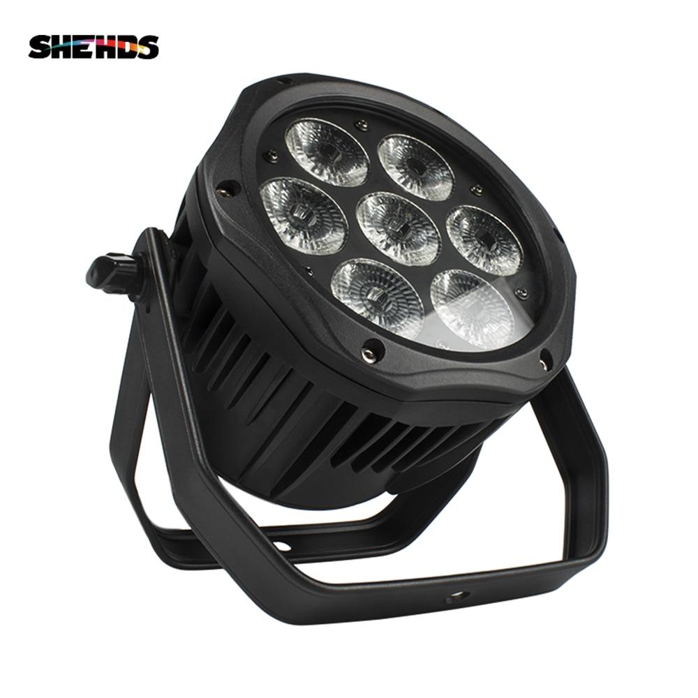 Shehds 7x18W LED Outdoor Waterproof Light 7x12W Par Lights Projector Landscape Effect For Park Garden Disco KTV Party Bar Lamp