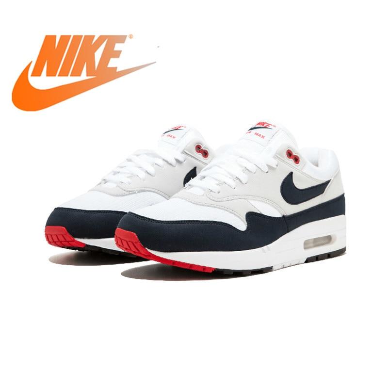 Original authentique nouveauté authentique Nike AIR MAX 1 anniversaire hommes chaussures de course bonne qualité baskets en plein AIR 908375-104