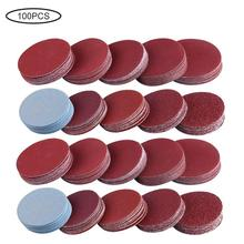100PCS Sanding Discs Headlight Restoration Sandpaper Aluminum Oxide Sander Pad for Furniture Grinding Jade Polishing Tools Set