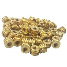 Screw-Inserts Heat-Set Brass Threaded Metal 3d-Printing 3mm for 50pcs 50pcs