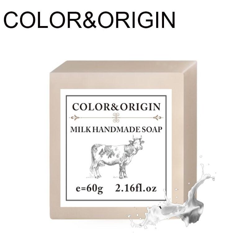 Color&Origin Skin Whitening Soap Goats Milk Essential Oil Handmade Soap Bleached Organic Herbal Aroma Natural Skin Care Bathing