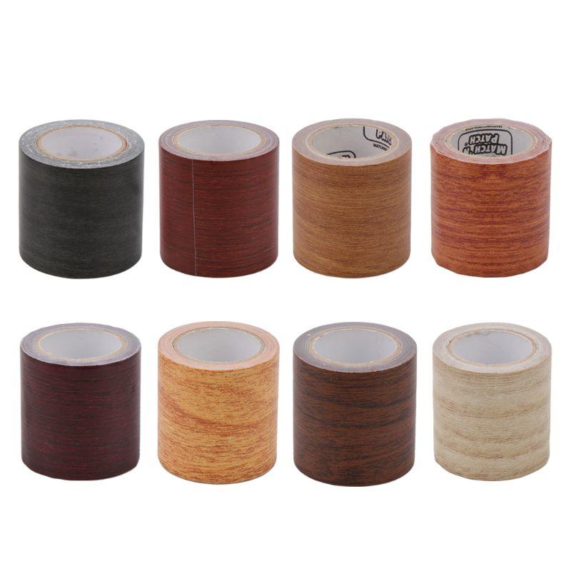 5M/Roll Realistic Woodgrain Repair Adhensive Duct Tape 8 Colors For Furniture