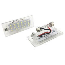 Luz de placa Led de diseño de coche de alta potencia para BMW E53 E83 X3 2004 2009X5 1999 2003 lámpara de matrícula Canbus número luces traseras