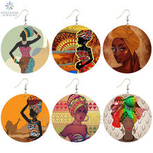 Somesoor Африканские Этнические головные уборы женские деревянные