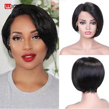 Wignee Lace Front Side Part Short Straight Hair Bob Human Wig