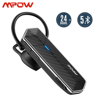 Mpow EM18 Single Business Wireless Earphones Bluetooth 5.0 24h Talk Time CVC 8.0 Noise Cancelling For Office Driver Call Phones