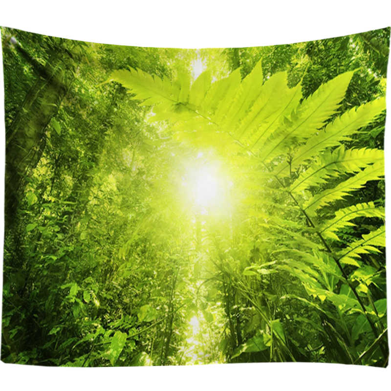 熱帯植物森タペストリー壁掛けサイケデリック太陽タペストリー家の装飾ヒッピー壁タペストリー自由奔放に生きる曼荼羅壁布アート