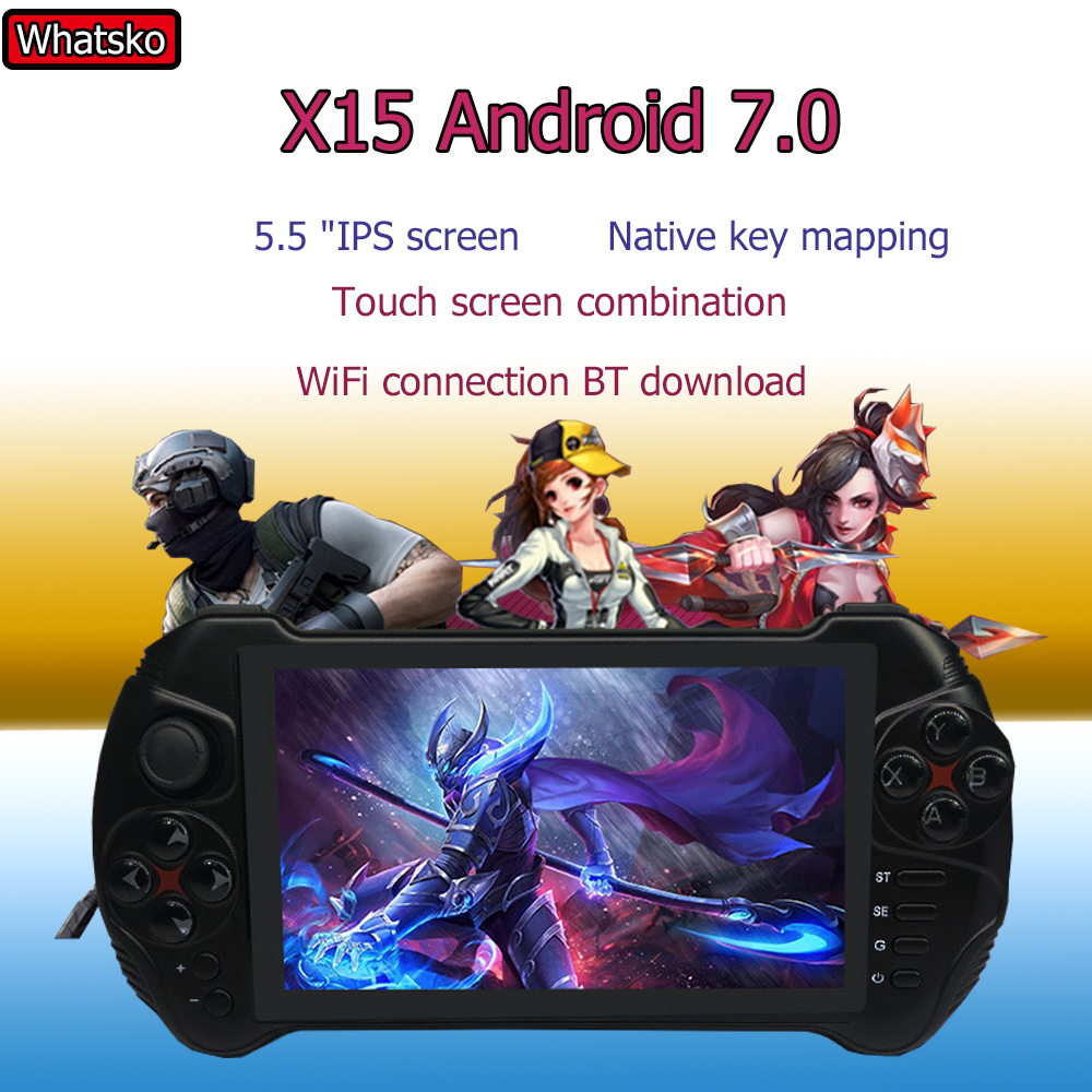 Powkiddy X15 Andriod Handheld Game Console 5.5 Inch MTK8163 Quad Core 2G RAM 32G ROM Video Handheld Game Console title=