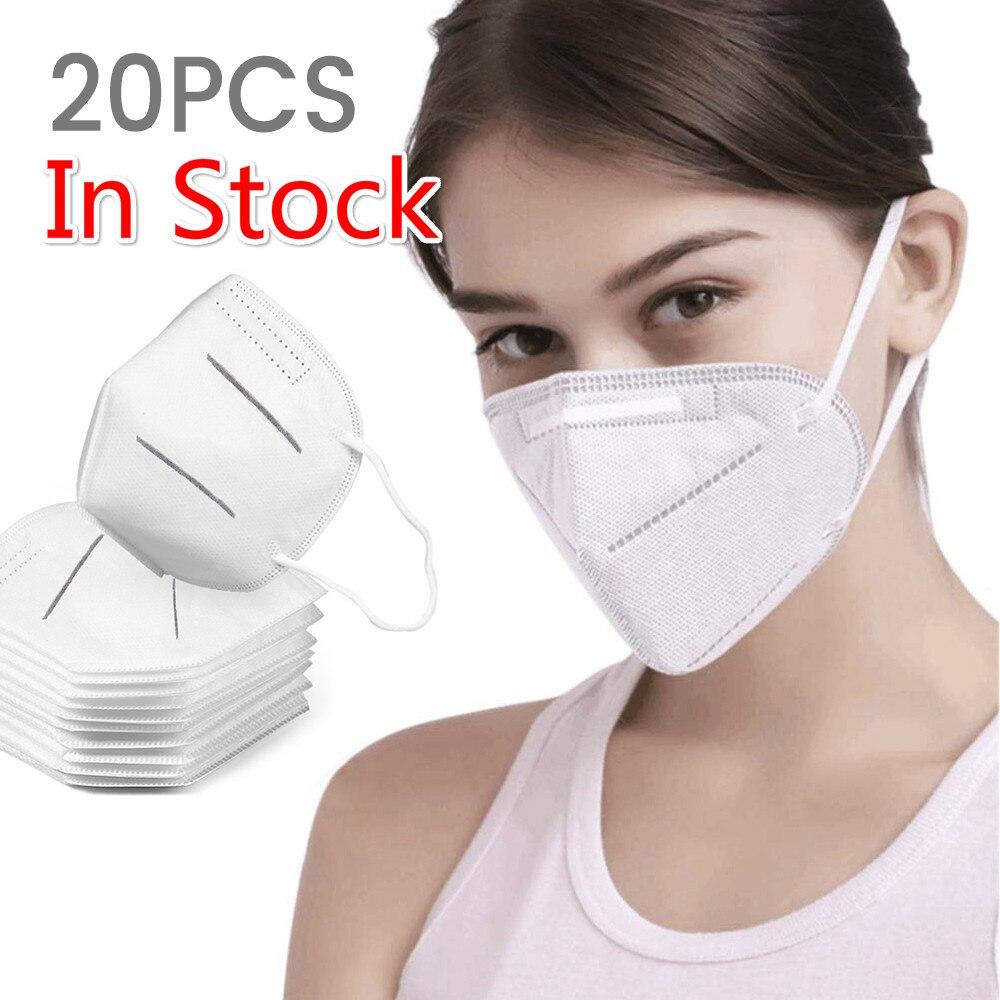 Original KN95 Masks Dust Same Grade FFP2 Mask Respirator Anti-fog Health Safety Mask Outdoor Dust Pollution Pollen,PM2.5