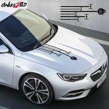Auto Sport Strepen Styling Motorkap Stickers Auto Hood Decor Sticker Voor Opel Insignia Opc Body Motorkap Vinyl Decal