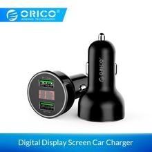ORICO, два порта, USB, 15,5 Вт, зарядное устройство для автомобиля, мобильный телефон с дисплеем, экран для iPhone, samsung, Android, смартфон, планшет