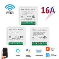 16A Tuya WiFi Switch Module Smart Life Remote Voice Control Smart Light DIY Switch Module Smart Home With Alexa Google Home 1