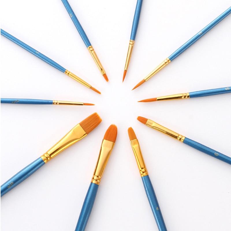 Набор кистей для рисования BOMEIJIA, 10 шт./упак., акриловая акварель маслом для художника, профессиональные наборы для рисования 3