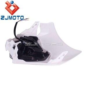 Image 4 - Çift spor motosiklet LED far başkanı lamba ışığı için EXC SXF SX XC XCW XCF 125 150 250 350 450 530 690 SMR Enduro Motocross