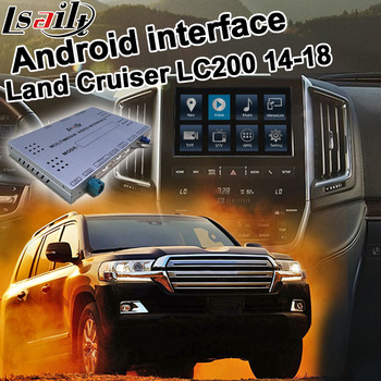 Pin to pin Android / carplay interface box for Toyota Land Cruiser LC200 GX-R GXR VX-R VXR 14-19 video interface mirror link