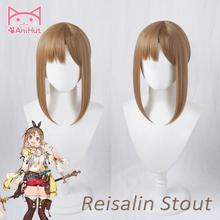 【AniHut】Reisalin Stout Ryza Wig Game Atelier Ryza: Ever Darkness & the Secret Hideout Cosplay Hair Reisalin Stout Ryza Cosplay