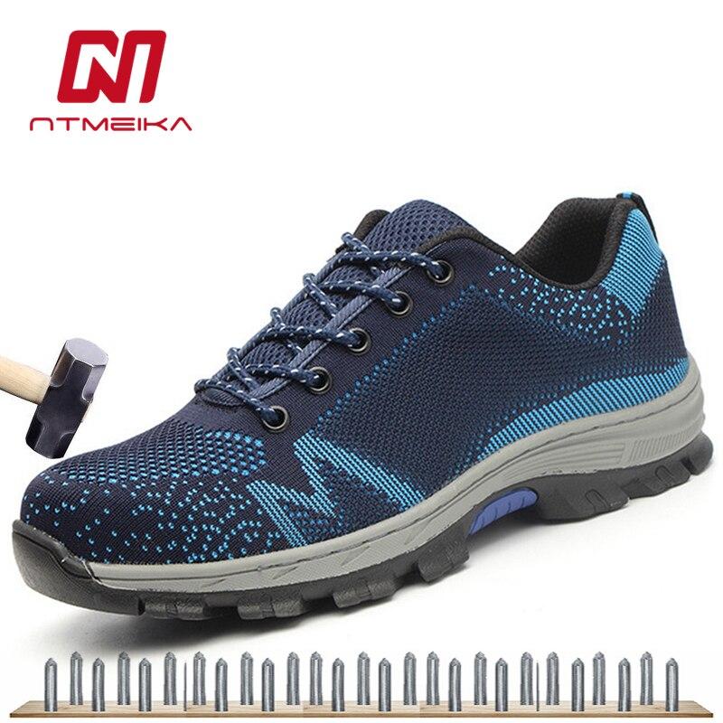 Duży rozmiar 35 46 mężczyźni buty robocze BHP ze stali toe odporne na miękkie buty na świeżym powietrzu buty robocze mężczyzn w Obuwie robocze i ochronne od Buty na  Grupa 1