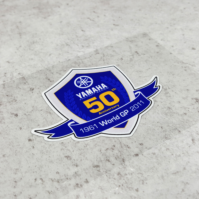 LuLuSticker #135 9x7.3cm World GP 50th Anniversary Motorcycle Racing Stickers BWS GTR Motorbike Helmet Fuel Tank Stickers Decals(China)