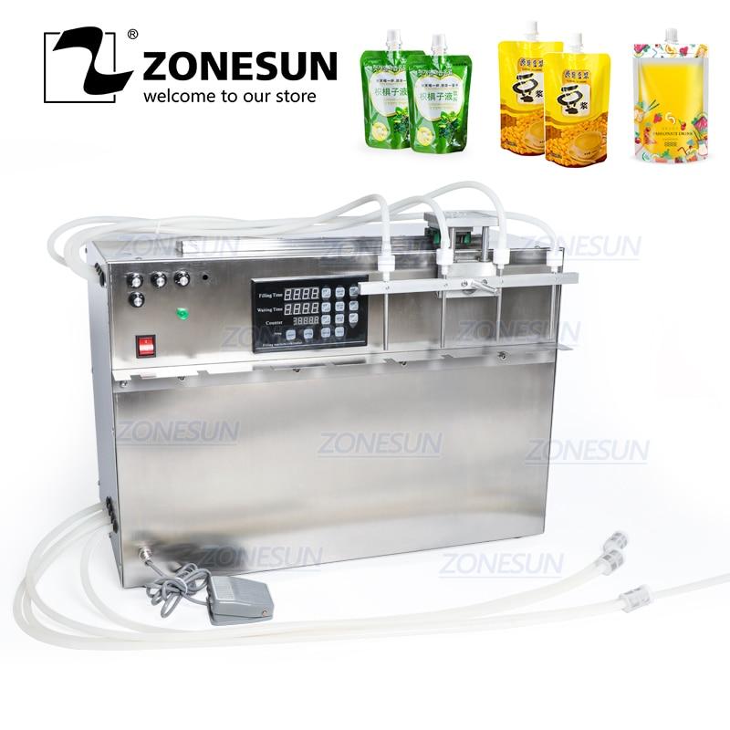 ZONESUN Self-priming Beverage Bag Liquid Filling Machine Digital Control Compact Precise Numerical Control Filling Machine