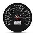Спидометр км и км напечатаны настенные часы гоночная механика настенные искусства черный Автомобильный манометр приборной доски настенны...