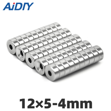 AI DIY 20/50/100 pcs 12x5mm Hole 4mm Super strong round countersunk Rare Earth magnets permanent neodymium magnet 12*5-4 цена 2017