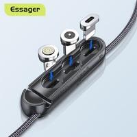 Essager custodia per cavo magnetico per iPhone Micro USB tipo C scatola di immagazzinaggio portatile connettore adattatore magnetico contenitore in Silicone