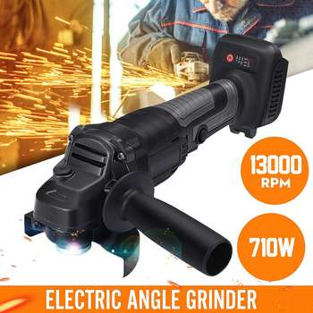 220V Electric Angle Grinder 710W 100mm Variable Speed 3000-13000RPM Power Tool Machine for Cutting Grinding Metal or Wood Work