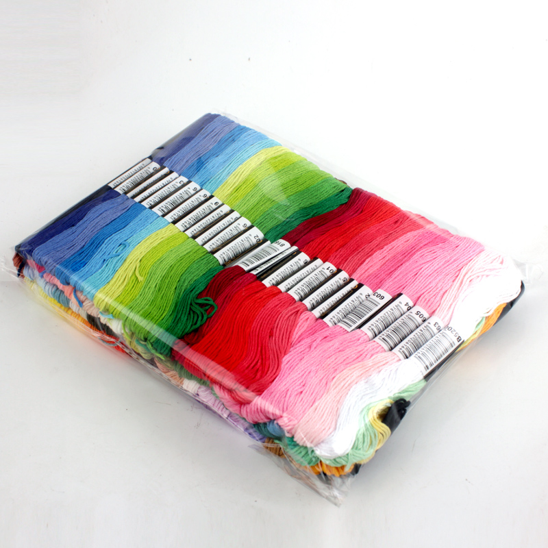 50 Kleuren Cross Stitch Thread Borduurgaren Floss Naaien Strengen Craft Diy Armband Gevlochten