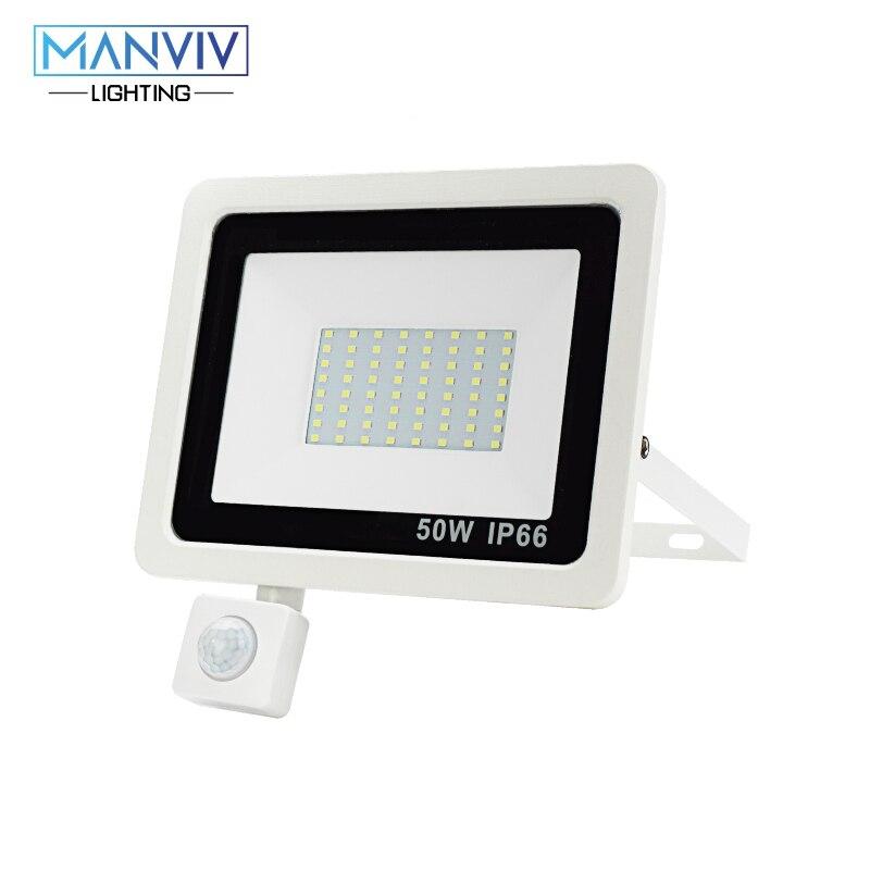 Pir Motion Sensor Led Schijnwerper 10W 20W 30W 50W 100W 220V Waterdichte Outdoor Muur tuin Led Spotlight Reflector Foco Lamp