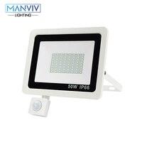 Pir sensor de movimento led projector 10 w 20 30 50 100 220 v à prova dwaterproof água ao ar livre jardim parede led refletor foco lâmpada|Holofotes| |  -