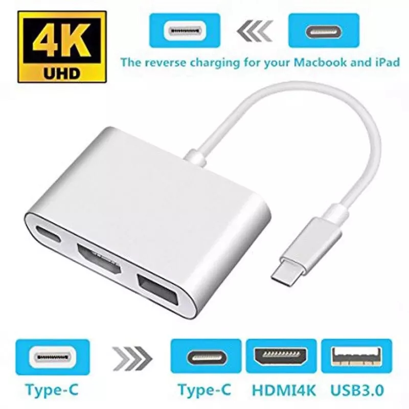 Thunderbolt 3 Adaptador USB TIPO C HUB PARA HDMI-COMPATIVEL 4K SUPORTE Samsung DEX MODO USB-C DOCE COM PD PARA MacBook Pro/AR
