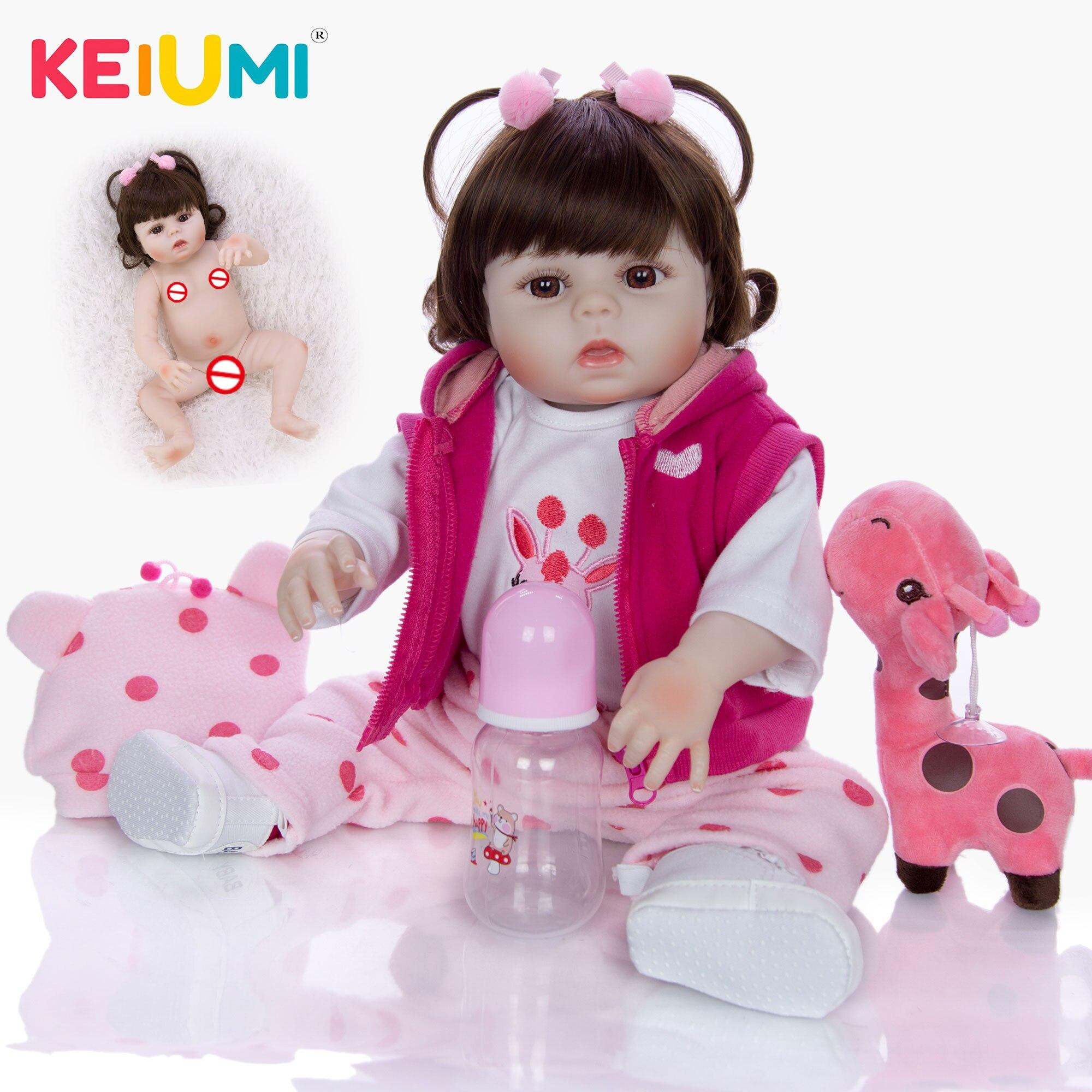 19 ''48 CM de silicona de cuerpo completo Reborn bebés muñeca baño juguete realista recién nacido princesa bebé muñeca Boneca Bebes Reborn niña chico juguete-in Muñecas from Juguetes y pasatiempos    1