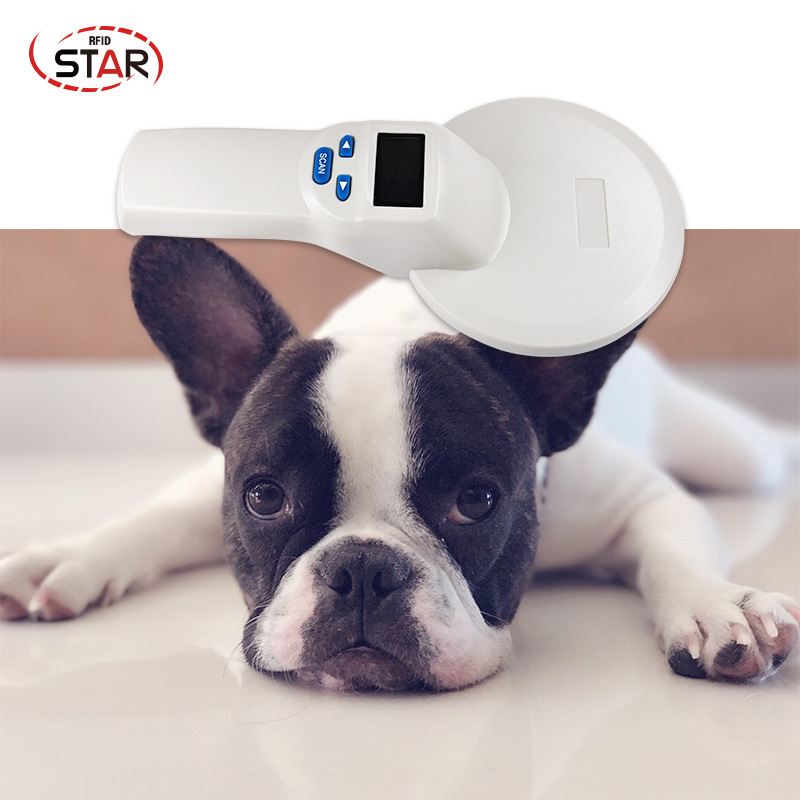 ISO FDX-B 134.2KHz Pet RFID Chip Reader OLED Display Portable Animal Microchip Scanner Animal RFID Tag Reader Dog Reader