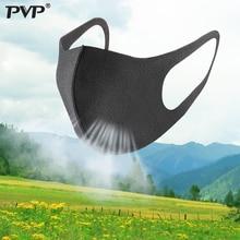 PVP 10/3Pcs שחור פה מסכת לנשימה יוניסקס ספוג פנים מסכת לשימוש חוזר אנטי זיהום פנים מגן רוח הוכחה פה אנטי אבקה
