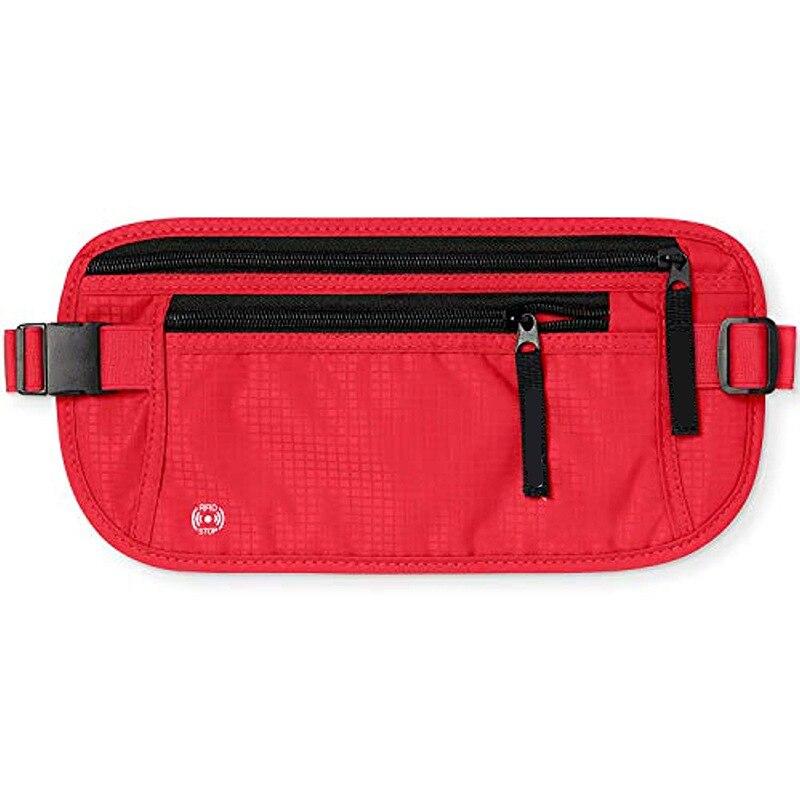 Personnalisable caché en Nylon Fanny Pack Documents en plein air sac de taille ajusté hommes et femmes en cours d'exécution voyage RFID poche antivol - 3