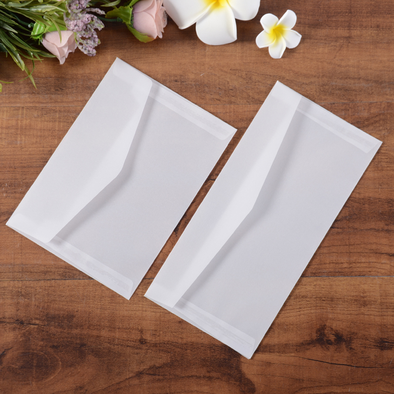 10pcs/lot Translucent Sulfuric Acid Paper Envelopes DIY Multifunction Envelope Sets For Letter, Postcard Storage