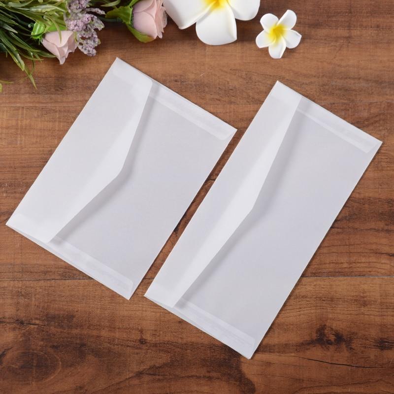 10pcs/lot Translucent Sulfuric Acid Paper Envelopes DIY Multifunction Envelope Sets For Letter, Postcard Storage