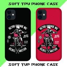 Tide brand design Skull Biker Club theme TPU phone case Soft